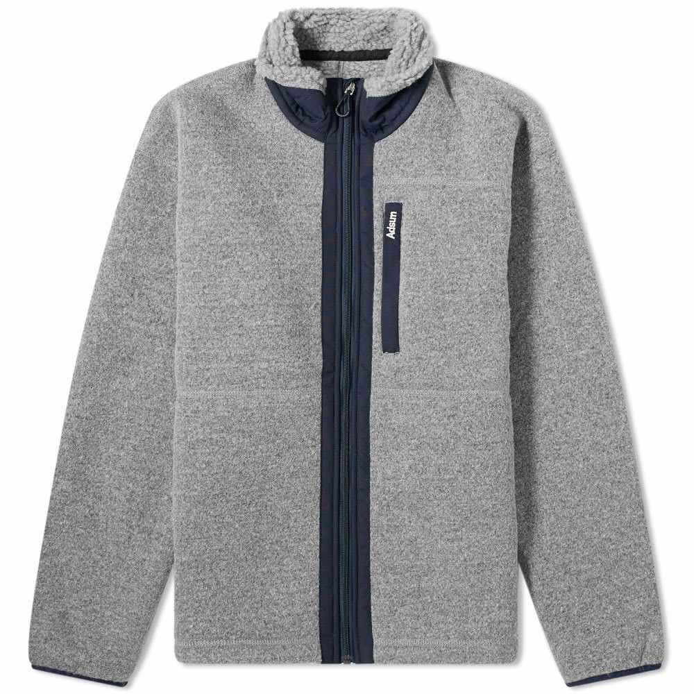アドサム Adsum メンズ フリース トップス【Expedition Fleece Jacket】Grey/Navy