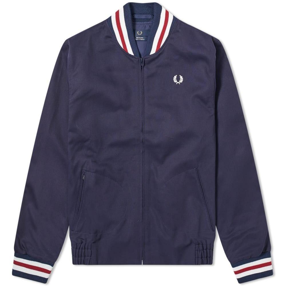 フレッドペリー Fred Perry Authentic メンズ ブルゾン ミリタリージャケット アウター【Fred Perry Reissues Made in England Bomber Jacket】Navy
