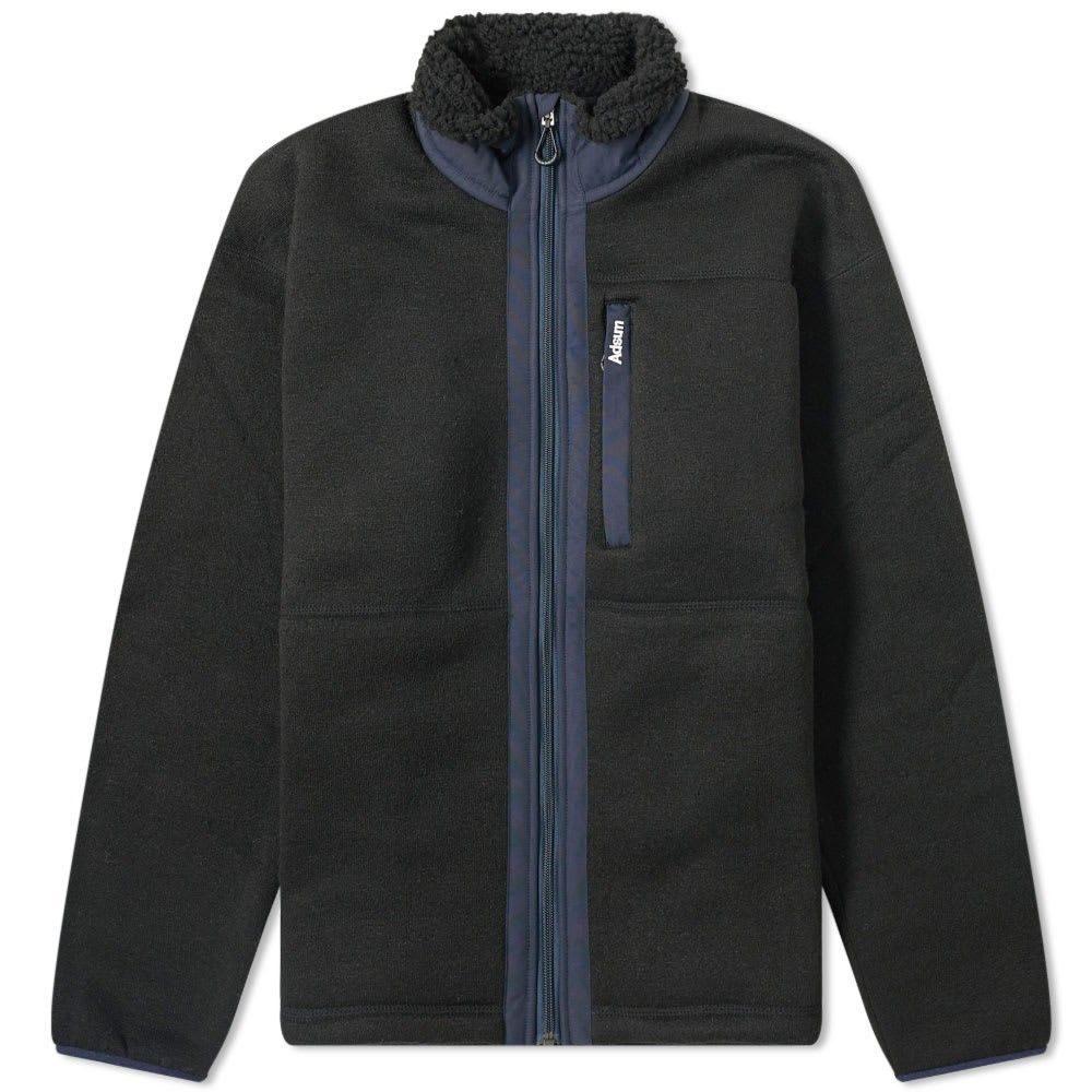 アドサム Adsum メンズ フリース トップス【Expedition Fleece Jacket】Black/Navy