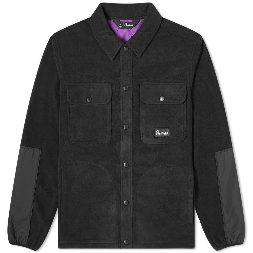 ペンフィールド Penfield メンズ フリース オーバーシャツ トップス【Falkirk Fleece Overshirt】Black