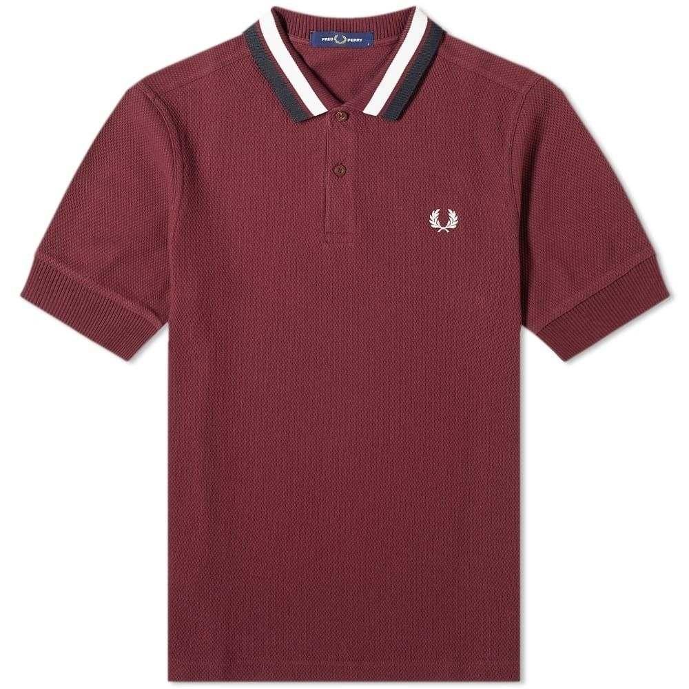 フレッドペリー Fred Perry Authentic メンズ ポロシャツ トップス【Bold Tipped Polo】Mahogany