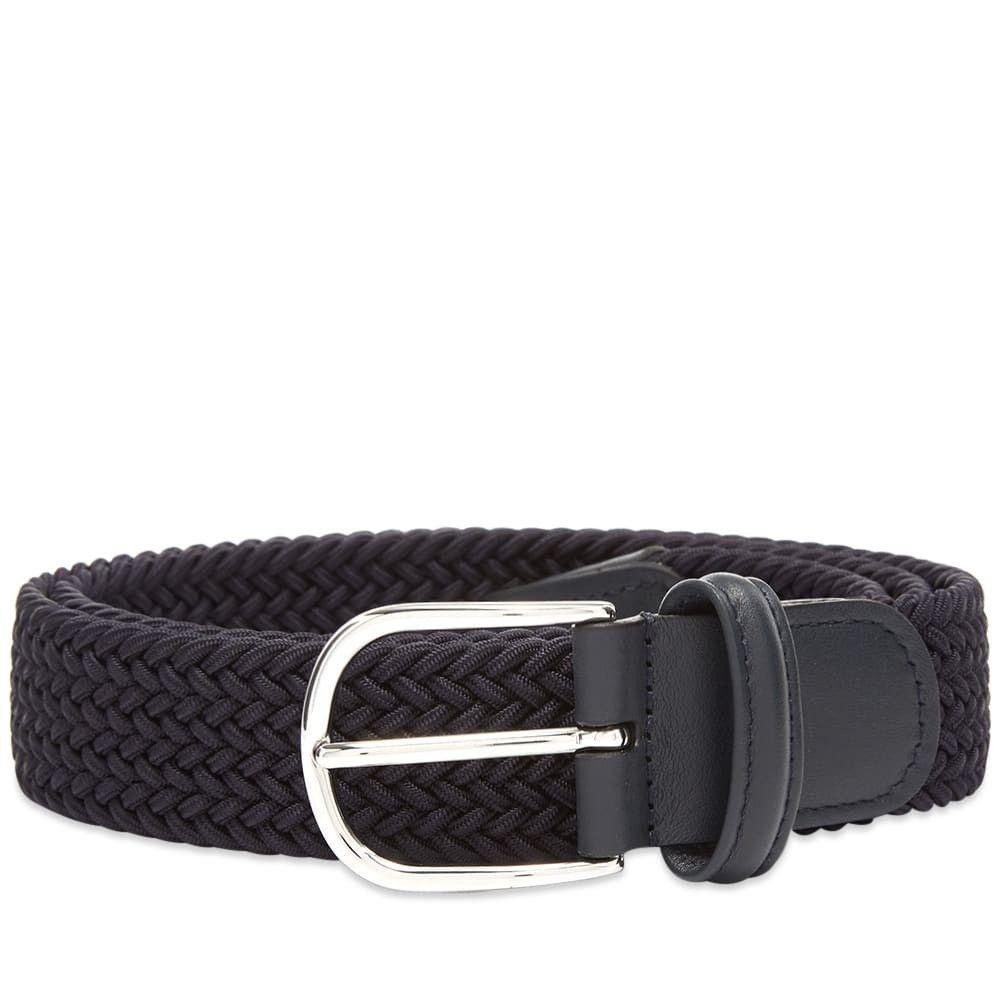 アンダーソンズ Andersons メンズ ベルト 【Anderson's Woven Textile Belt】Navy