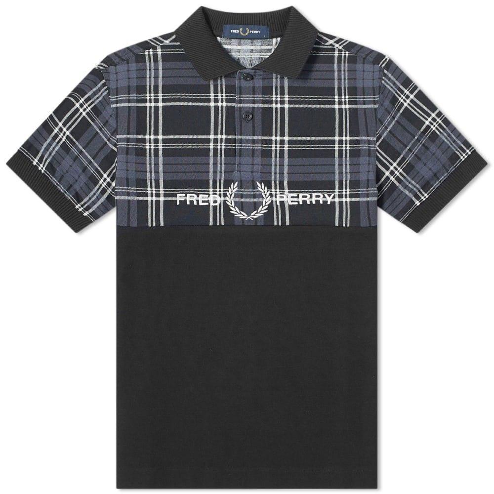 フレッドペリー Fred Perry Authentic メンズ ポロシャツ トップス【Fred Perry Tartan Logo Polo】Black