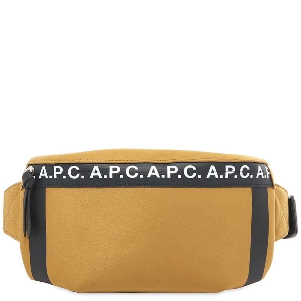 アーペーセー A.P.C. メンズ ボディバッグ・ウエストポーチ バッグ【Savile Taped Logo Bum Bag】Camel
