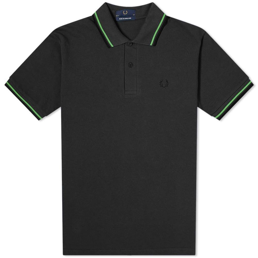 フレッドペリー Fred Perry Authentic メンズ ポロシャツ トップス【Fred Perry Original Twin Tipped Polo】Black/Fern Green