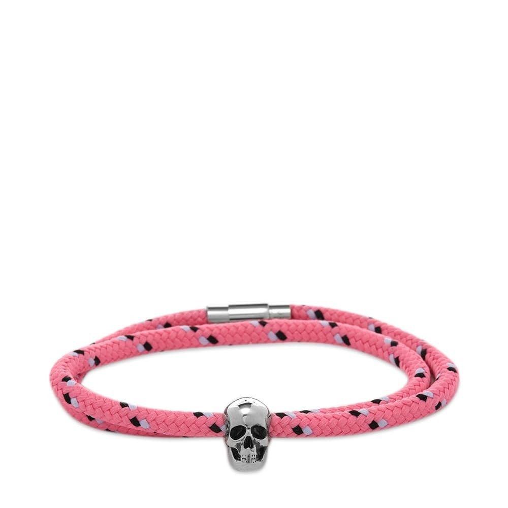 アレキサンダー マックイーン Alexander McQueen メンズ ブレスレット ジュエリー・アクセサリー【Skull Rope Friendship Bracelet】Pink