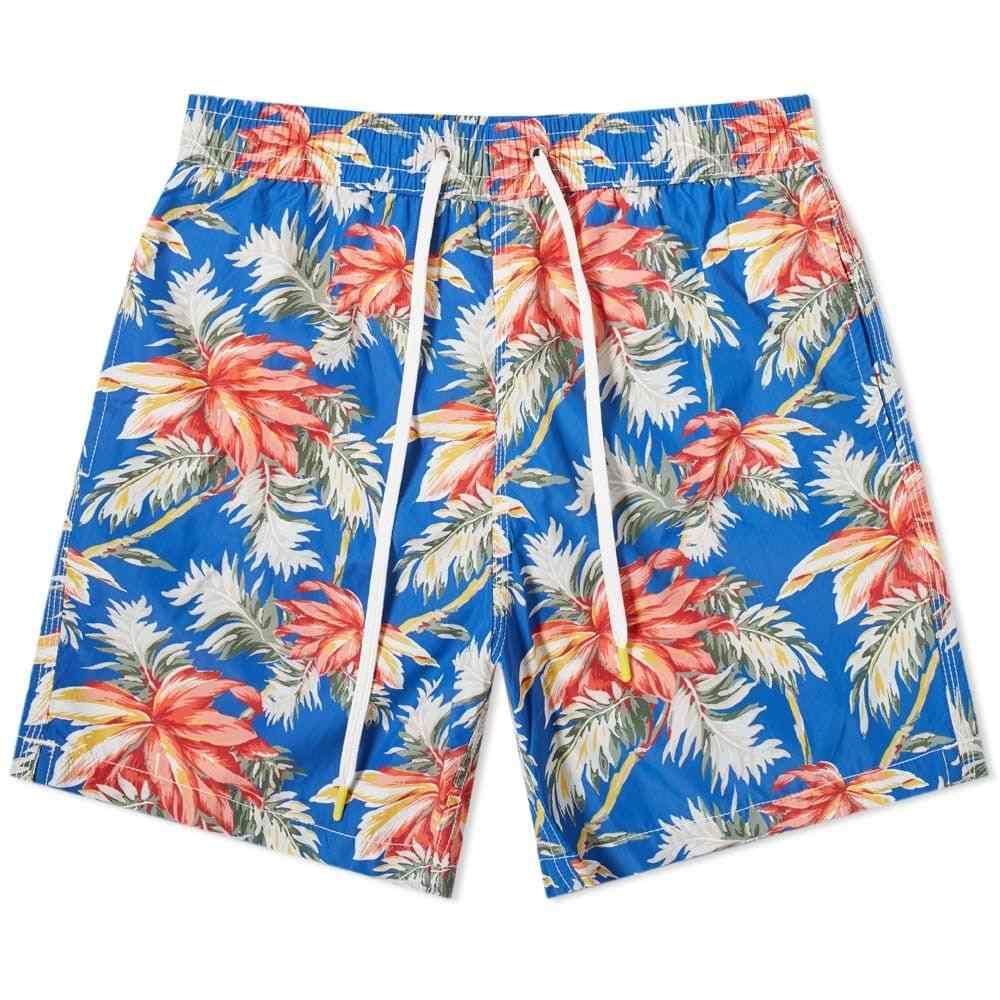 ハートフォード Hartford メンズ 海パン 水着・ビーチウェア【All Over Hibiscus Print Swim Short】Navy