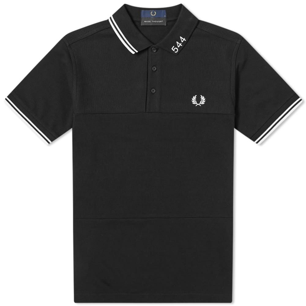 フレッドペリー Fred Perry Authentic メンズ ポロシャツ トップス【Fred Perry x Made Thought 544 Panelled Polo】Black