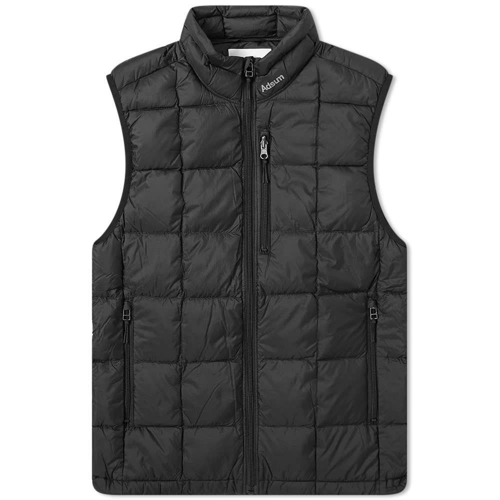 アドサム Adsum メンズ ベスト・ジレ ダウンベスト トップス【Hyperlight Down Vest】Black