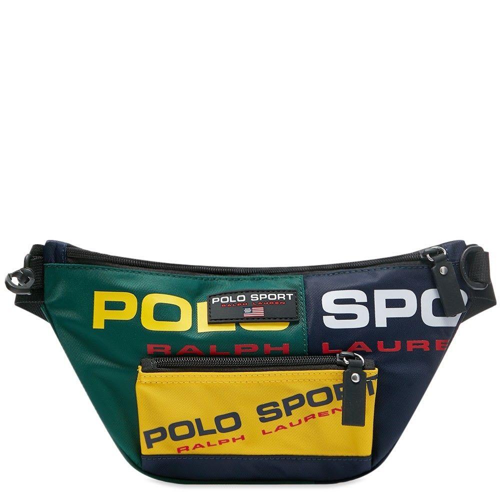 ポロスポーツ Polo Sport メンズ ボディバッグ・ウエストポーチ バッグ【Polo Ralph Lauren Waist Pack】Navy/Green/Yellow