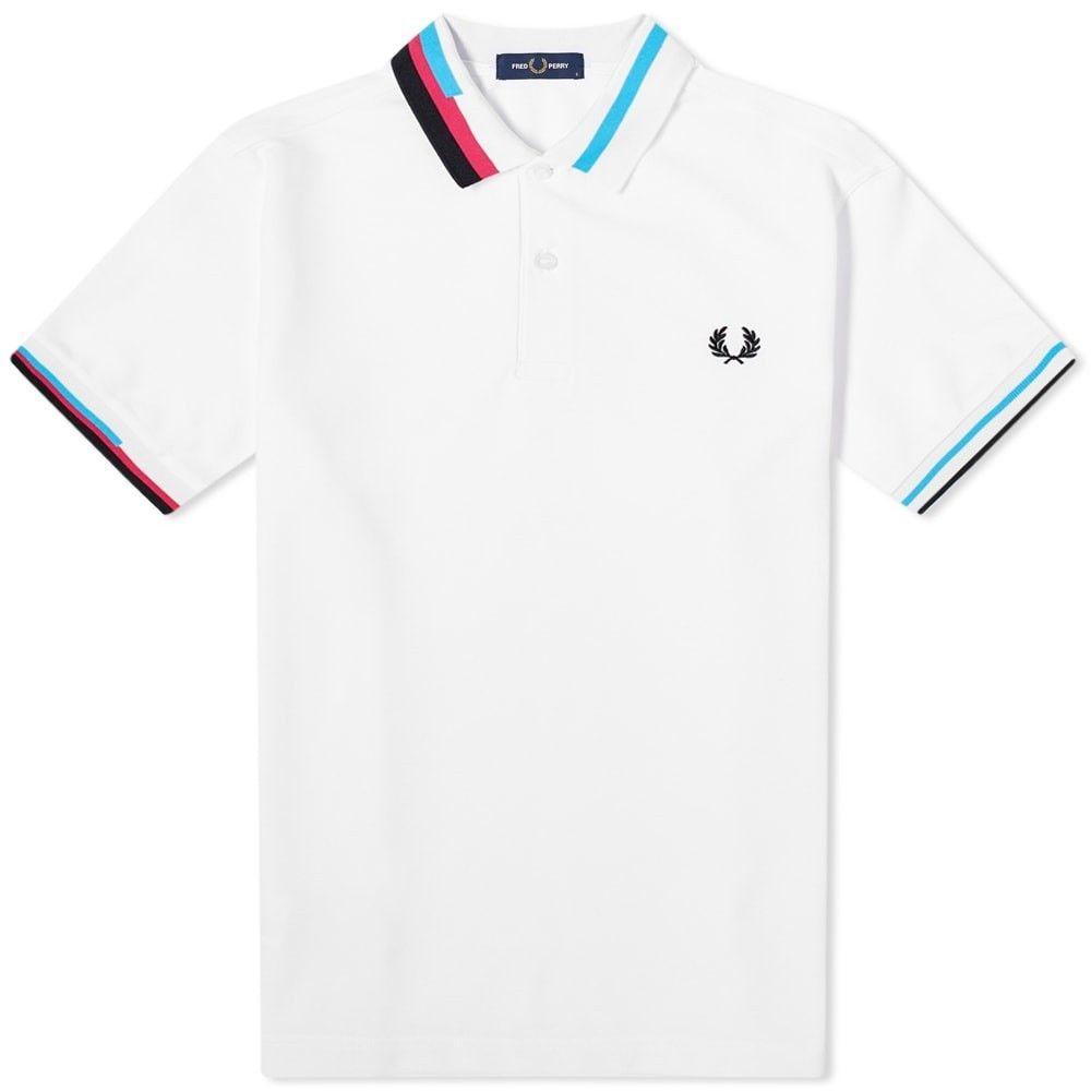 フレッドペリー Fred Perry Authentic メンズ ポロシャツ トップス【Process Colour Polo】White