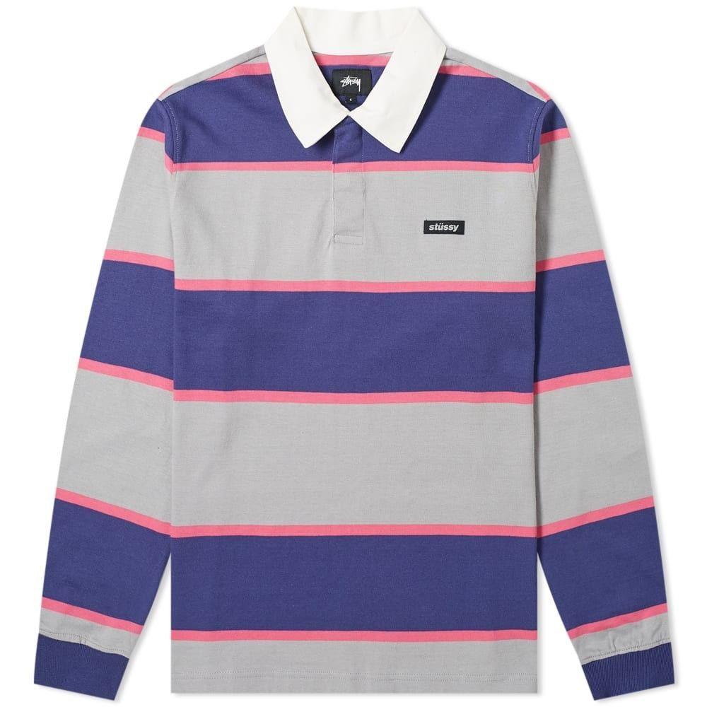 ステューシー Stussy メンズ ポロシャツ トップス【Blake Rugby Shirt】Blue