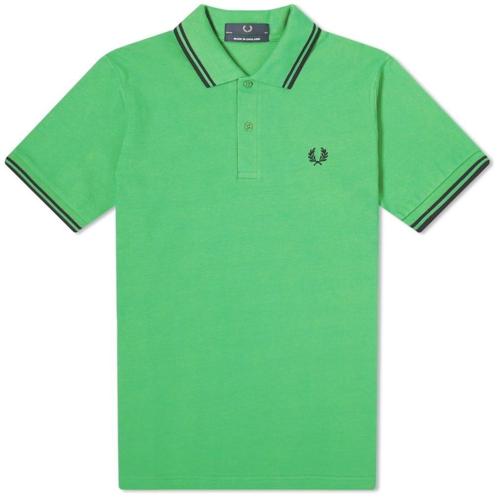 フレッドペリー Fred Perry Laurel Wreath メンズ ポロシャツ トップス【Fred Perry Reissues Original Twin Tipped Polo】Fern Green