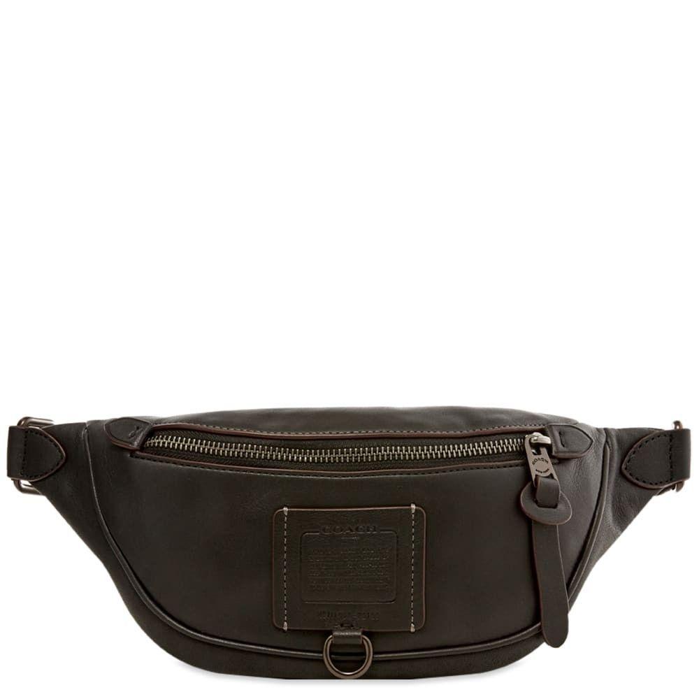 コーチ Coach メンズ ボディバッグ・ウエストポーチ バッグ【Rivington Belt Bag】Black/Charcoal