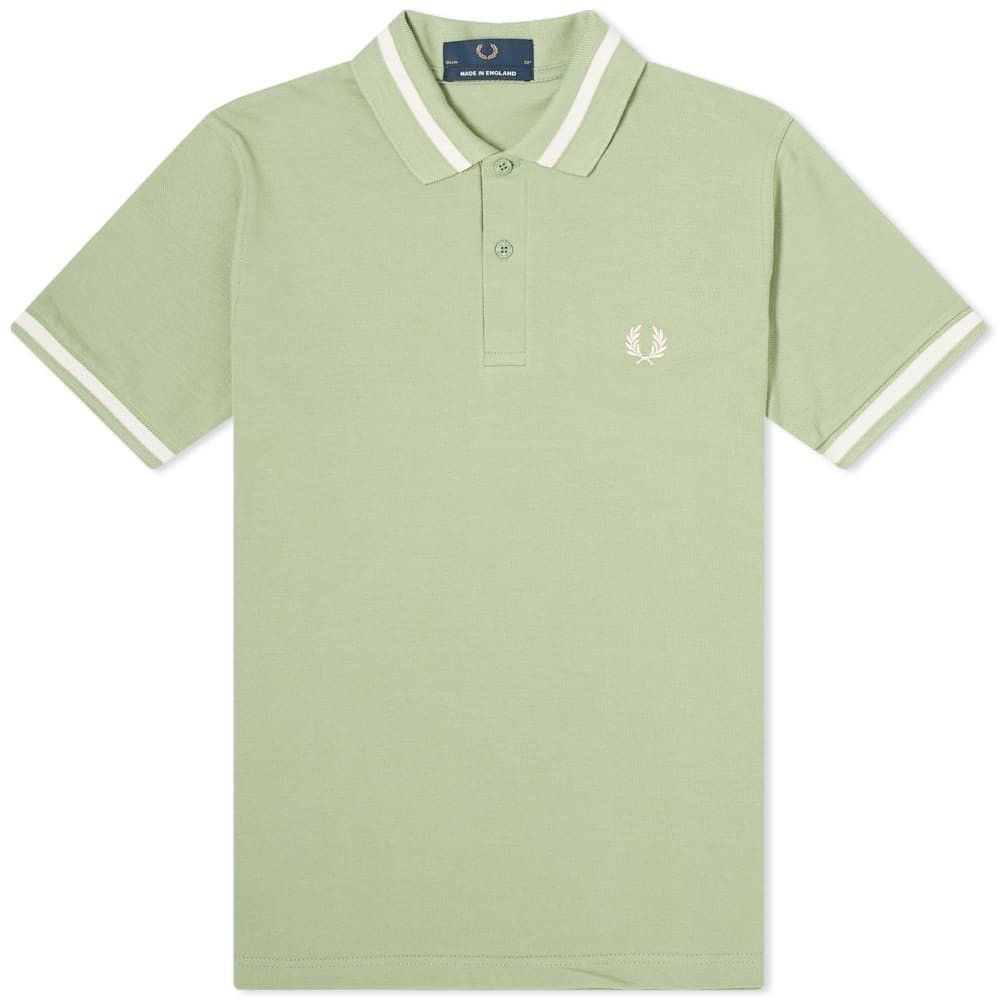 フレッドペリー Fred Perry Authentic メンズ ポロシャツ トップス【Fred Perry Reissues Original Single Tipped Polo】Pistachio/Ecru