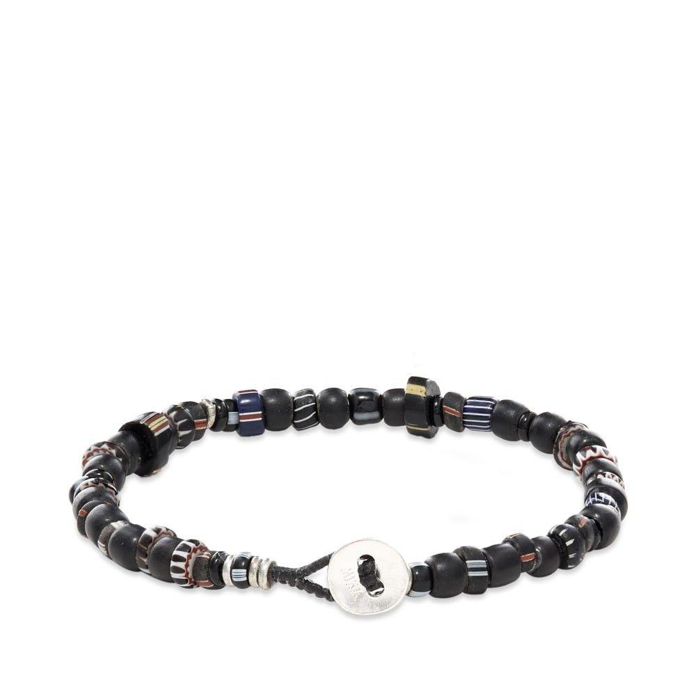 ミキア Mikia メンズ ブレスレット ジュエリー・アクセサリー【Roundel Beaded Bracelet】Onyx