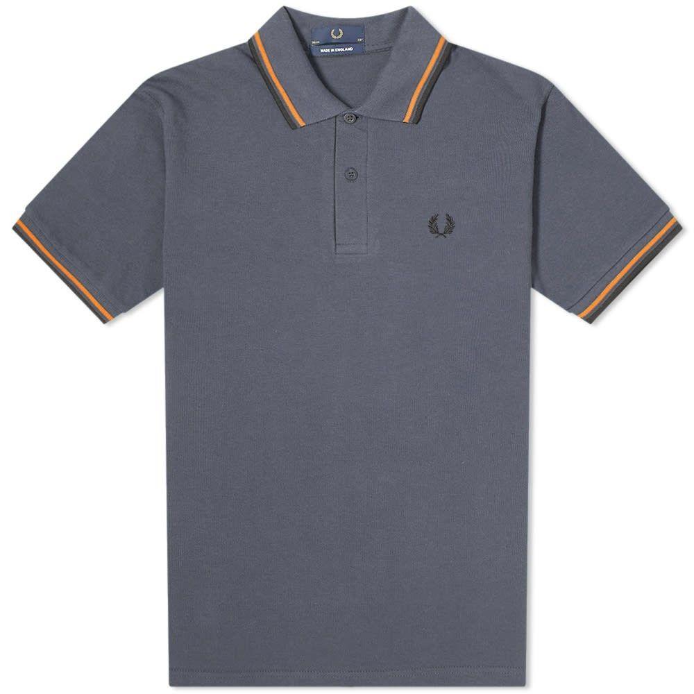 フレッドペリー Fred Perry Authentic メンズ ポロシャツ トップス【Fred Perry Original Twin Tipped Polo】Graphite/Fire Orange/Black