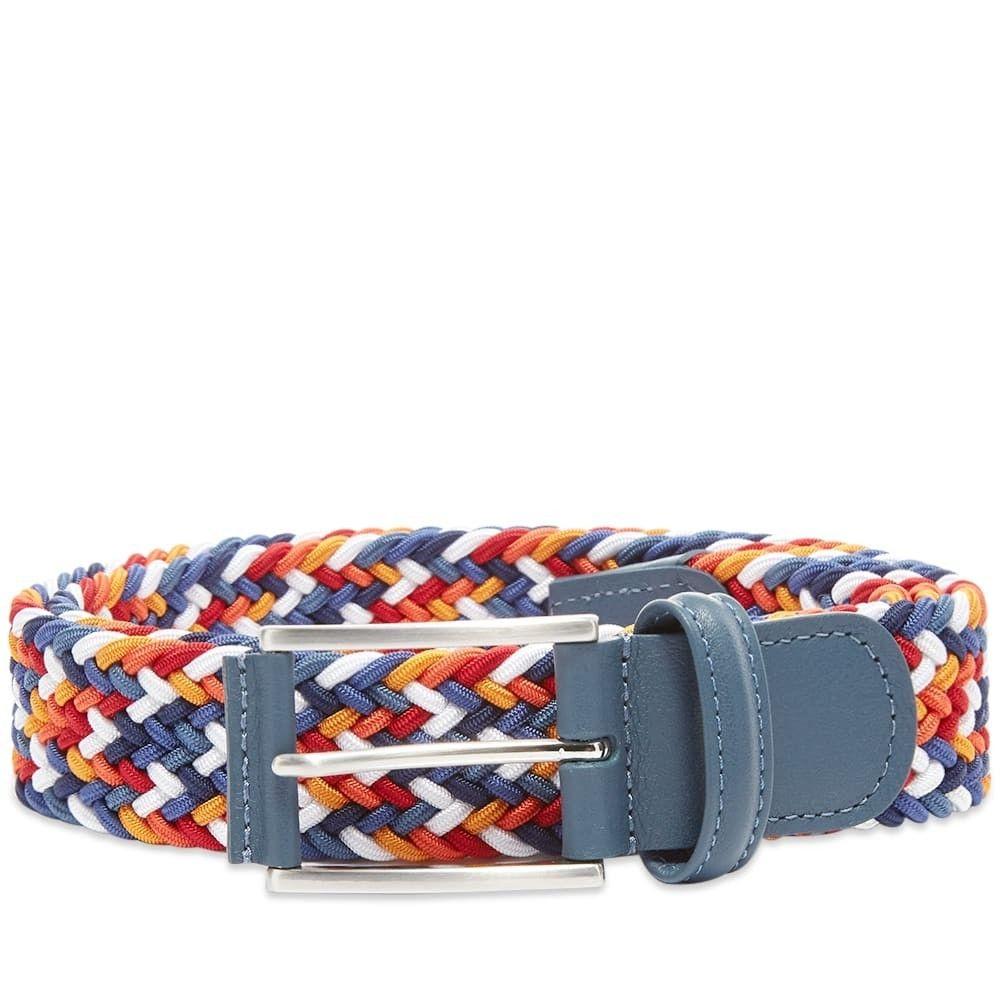 アンダーソンズ Andersons メンズ ベルト 【Anderson's Woven Textile Belt】Blue/Multi