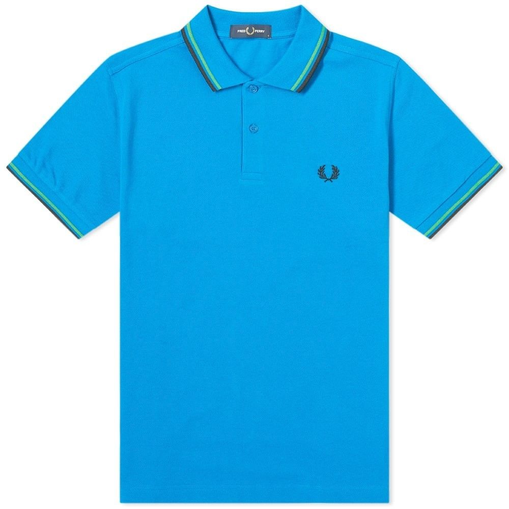 フレッドペリー Fred Perry Authentic メンズ ポロシャツ トップス【Fred Perry Slim Fit Twin Tipped Polo】Modern Blue