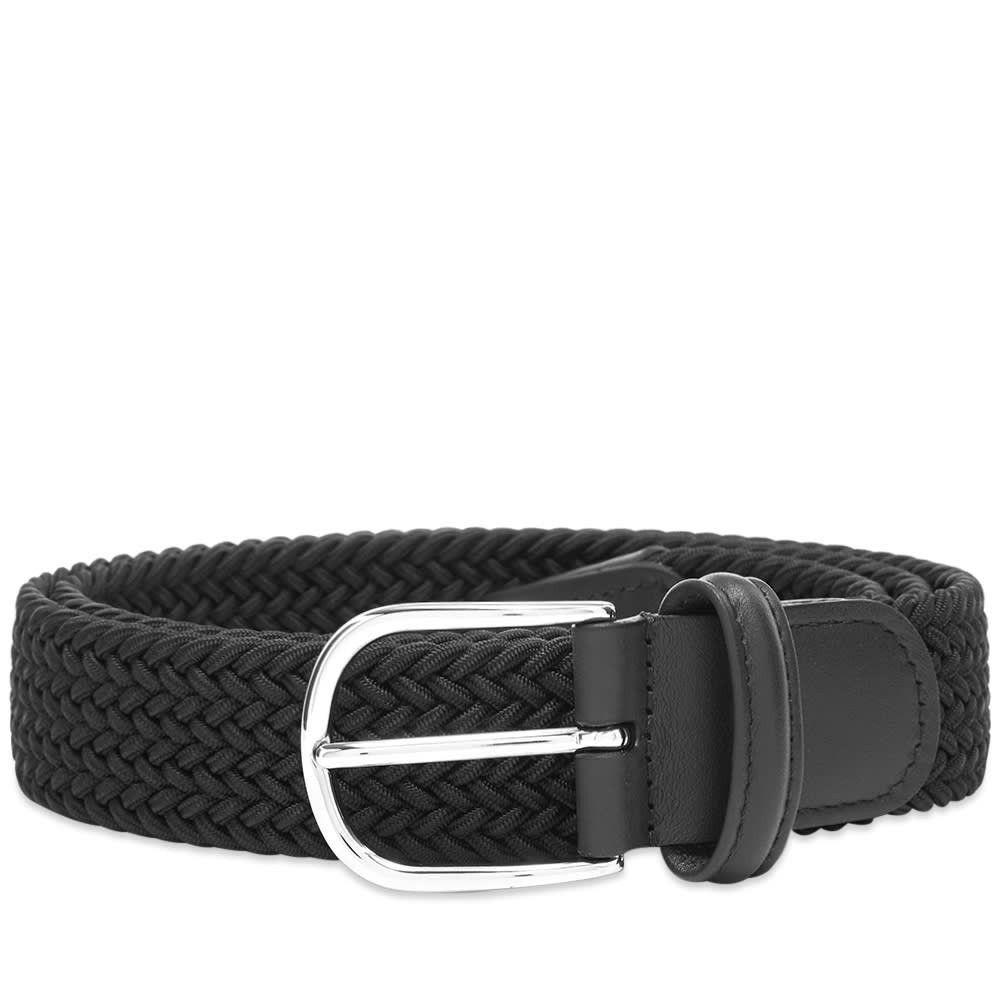 アンダーソンズ Andersons メンズ ベルト 【Anderson's Woven Textile Belt】Black