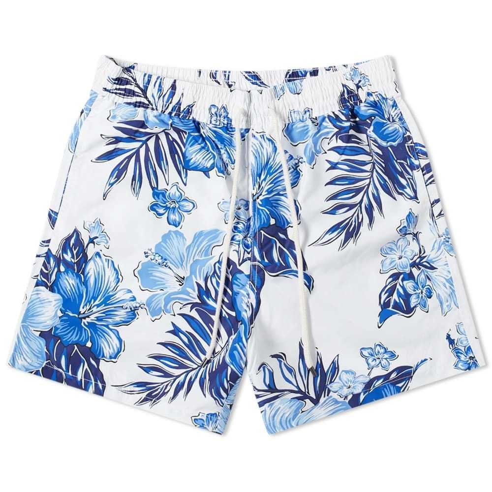 ラルフ ローレン Polo Ralph Lauren メンズ 海パン 水着・ビーチウェア【Traveller Swim Short】Vintage Hibiscus Blue
