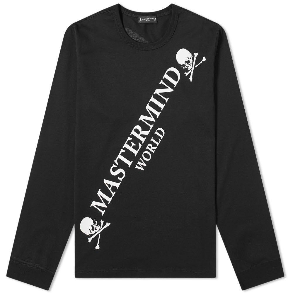 マスターマインド MASTERMIND WORLD メンズ 長袖Tシャツ ロゴTシャツ トップス【Long Sleeve Big Logo Tee】Black