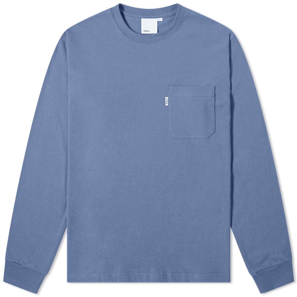 アドサム Adsum メンズ 長袖Tシャツ ポケット トップス【Long Sleeve Pocket Tee】Slate
