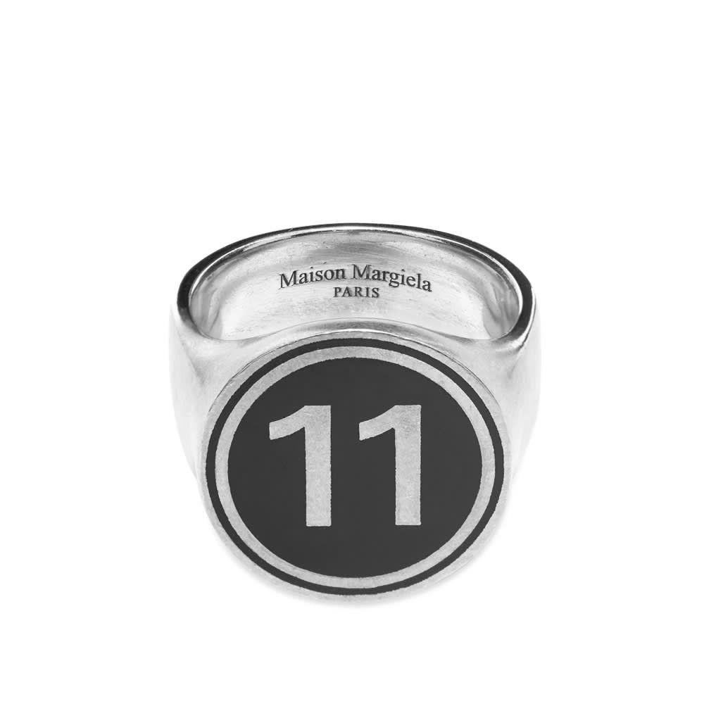 メゾン マルジェラ Maison Margiela メンズ 指輪・リング ジュエリー・アクセサリー【11 Signet Ring】Silver/Black