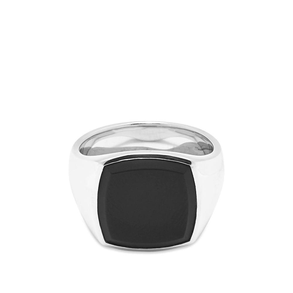 トムウッド Tom Wood メンズ 指輪・リング ジュエリー・アクセサリー【Cushion Black Onyx Ring】Silver