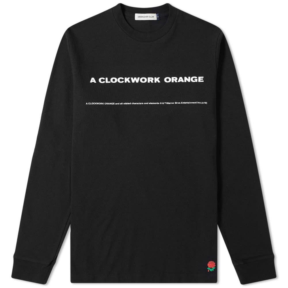 アンダーカバー Undercover メンズ 長袖Tシャツ トップス【x A Clockwork Orange Long Sleeve Back Print Tee】Black