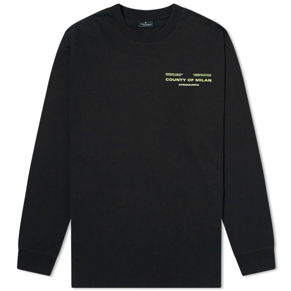 マルセロバーロン Marcelo Burlon メンズ 長袖Tシャツ トップス【Long Sleeve Optical Tee】Black