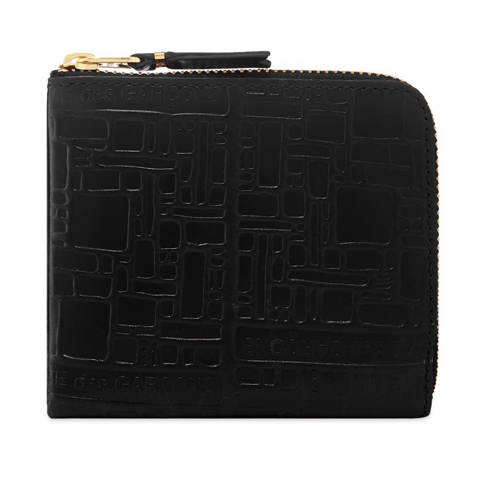 コムデギャルソン Comme des Garcons Wallet メンズ 財布 【Comme des Garcons SA3100EL Embossed Logo Wallet】Black