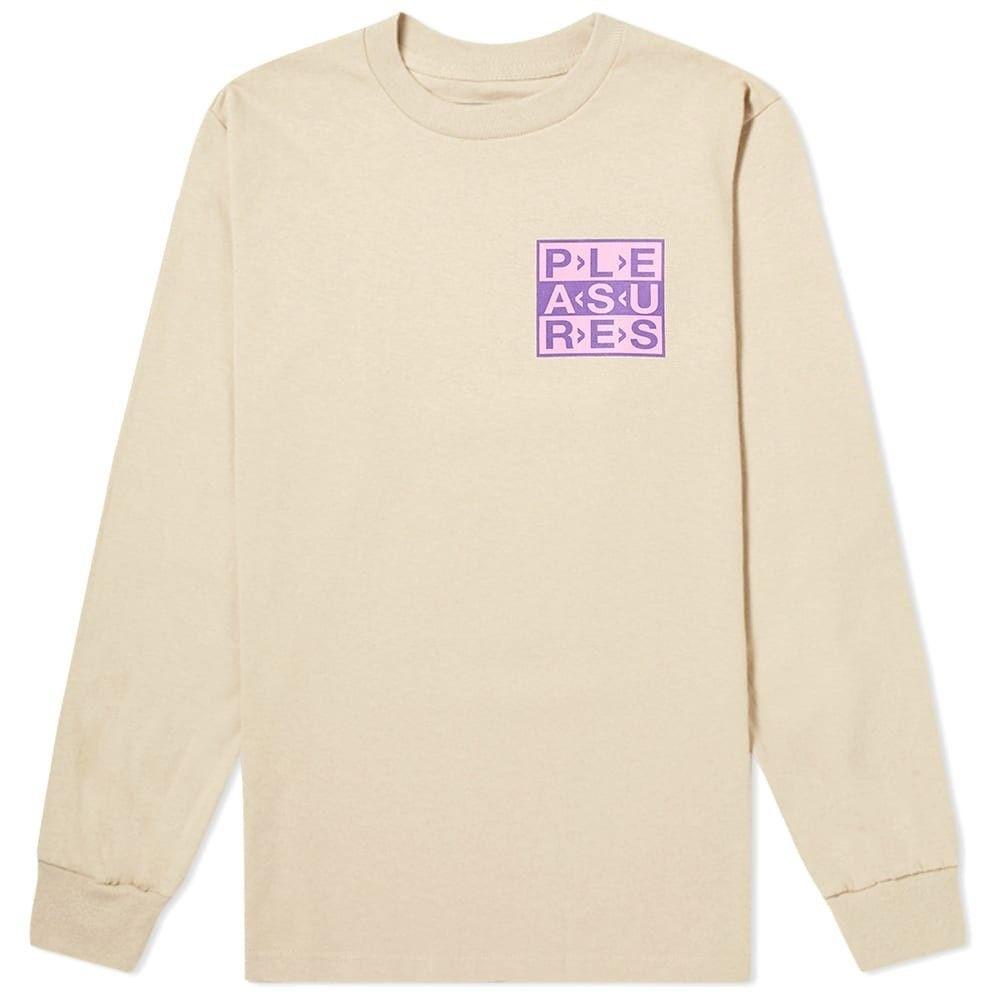 プレジャーズ PLEASURES メンズ 長袖Tシャツ ロゴTシャツ トップス【Long Sleeve Fragile Logo Tee】Sand