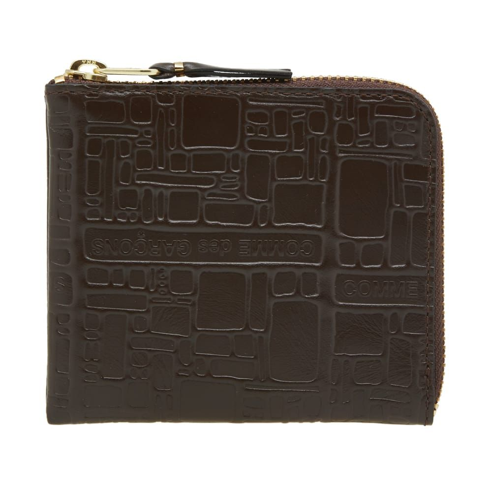コムデギャルソン Comme des Garcons Wallet メンズ 財布 【Comme des Garcons SA3100EL Embossed Logo Wallet】Brown