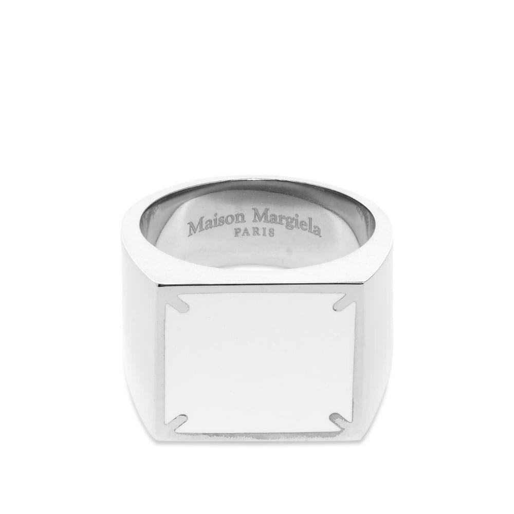 メゾン マルジェラ Maison Margiela メンズ 指輪・リング ジュエリー・アクセサリー【11 Square Signet Ring】White/Silver