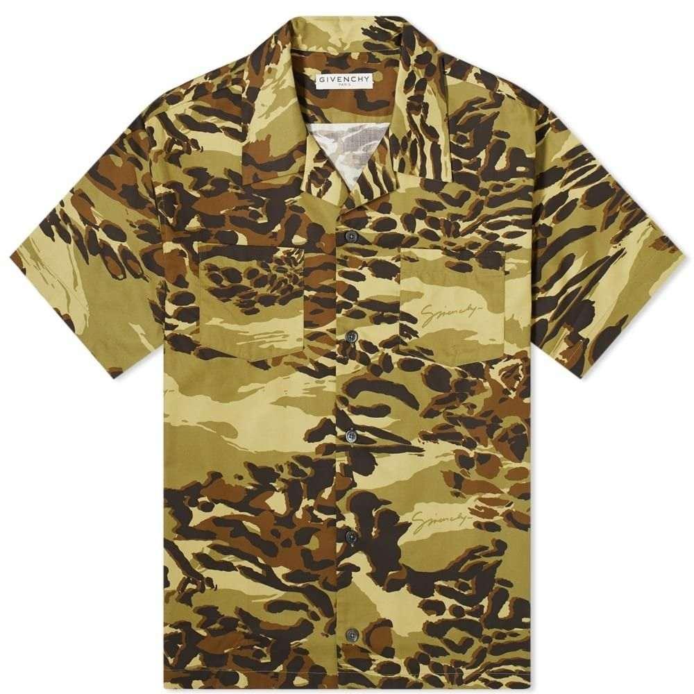 ジバンシー Givenchy メンズ 半袖シャツ アロハシャツ トップス【Short Sleeve Cheetah Camo Hawaiian Shirt】Light Khaki