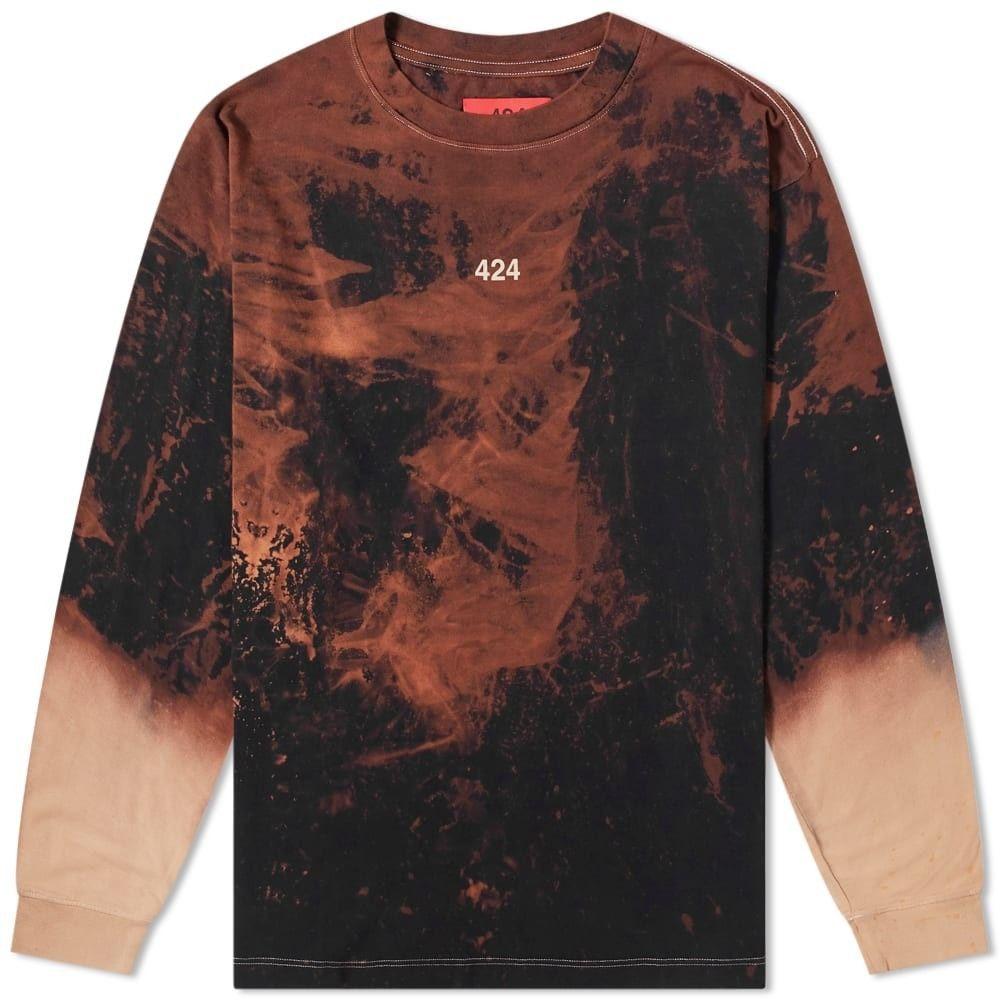 フォートゥーフォー 424 メンズ 長袖Tシャツ トップス【Long Sleeve Reworked Bleached Tee】Multi