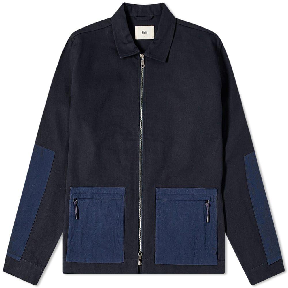 フォーク Folk メンズ ジャケット アウター【Overlay Zip Jacket】Navy