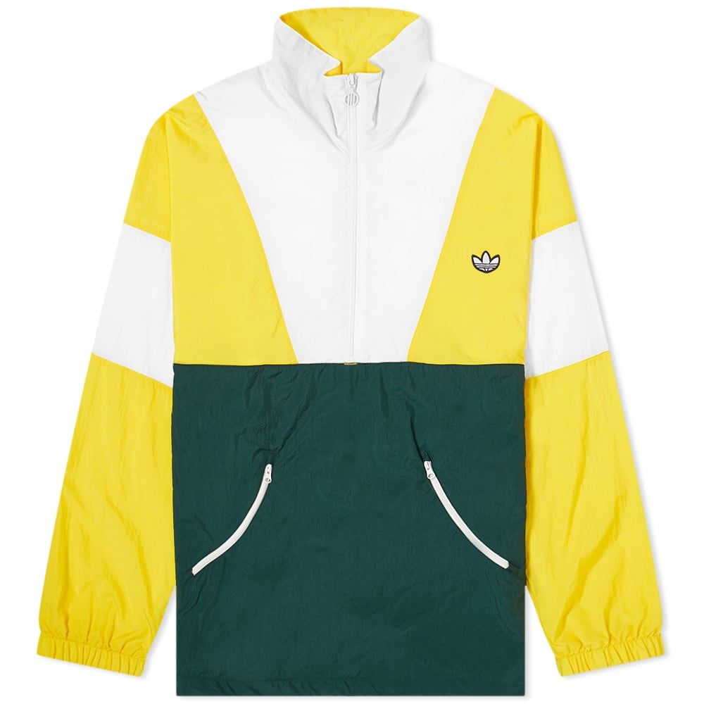 アディダス Adidas メンズ ジャージ アウター【Samstag Vintage Track Top】Super Yellow/White/Green