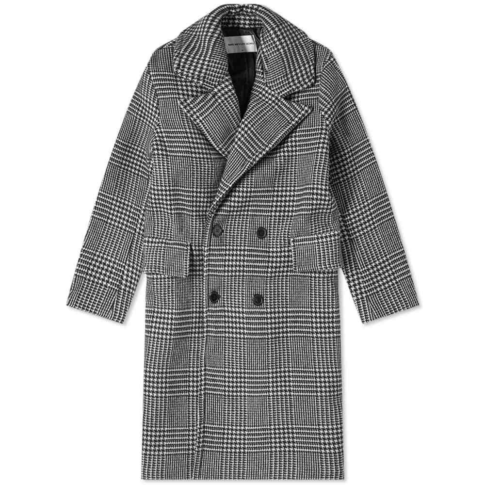 エムケーアイ MKI メンズ コート アウター【Oversized Double Breasted Overcoat】Prince of Wales Check