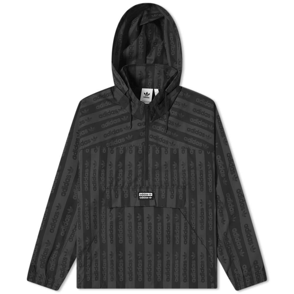 アディダス Adidas メンズ ジャージ アウター【Logo Print Track Top】Black