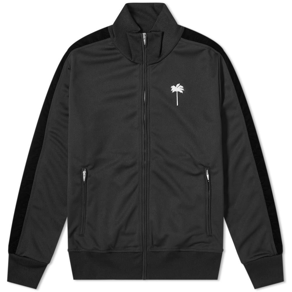 パーム エンジェルス Palm Angels メンズ ジャージ アウター【Palm by Logo Track Jacket】Black/White