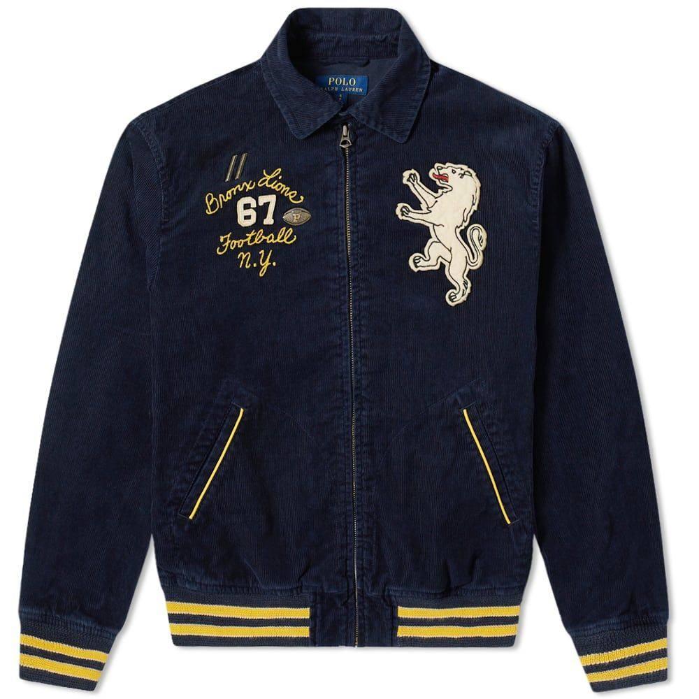 ラルフ ローレン Polo Ralph Lauren メンズ ジャケット スイングトップ アウター【Applique Cord Harrington Jacket】Aviator Navy