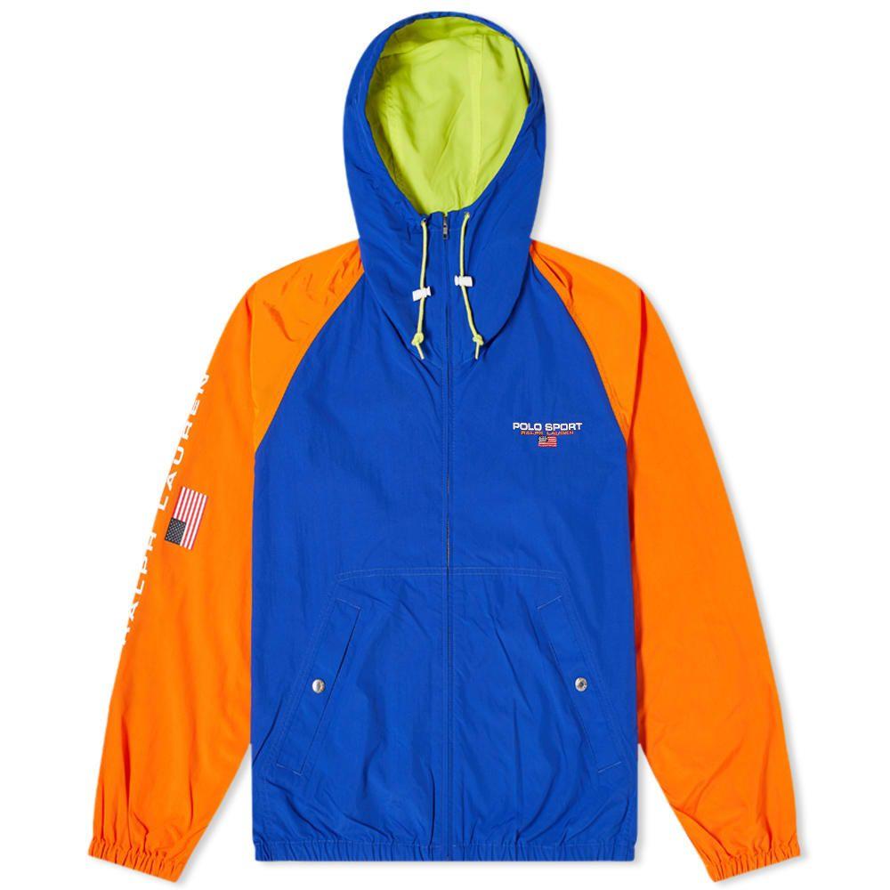 ポロスポーツ Polo Sport メンズ ジャケット ウィンドブレーカー アウター【Polo Ralph Lauren Zip Hooded Windbreaker】Royal/Orange/Pear