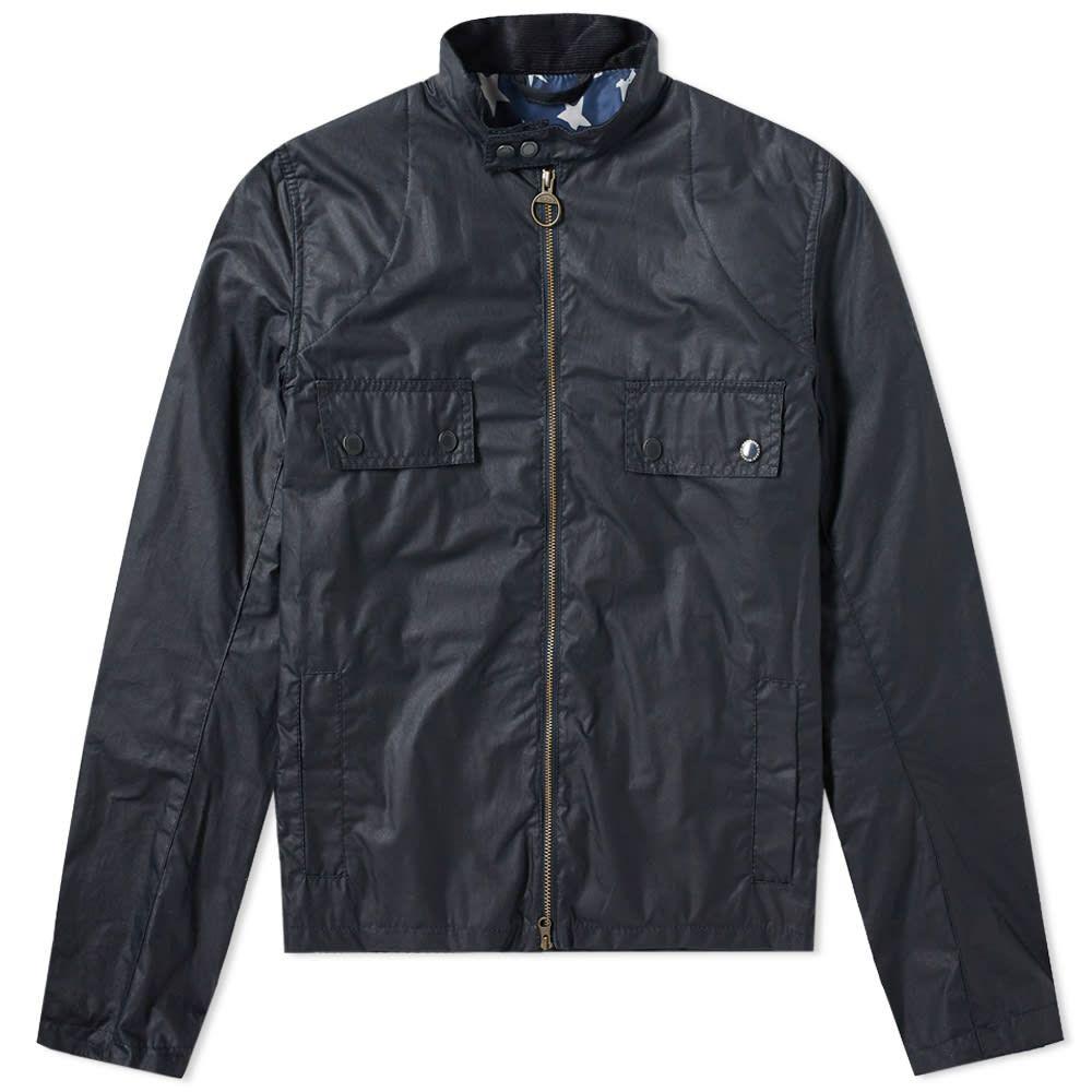 バブアー Barbour メンズ ジャケット アウター【Steve McQueen Wilkin Wax Jacket】Royal Navy