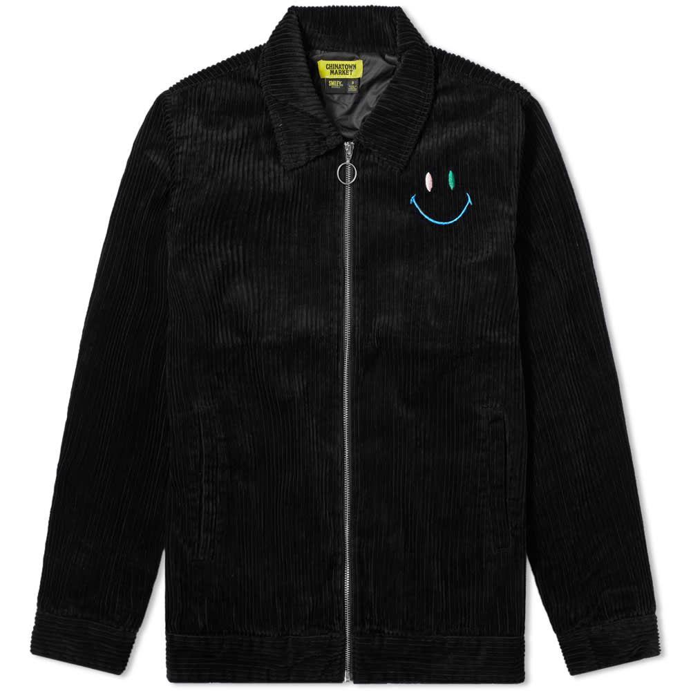チャイナタウンマケット Chinatown Market メンズ ジャケット コーチジャケット アウター【Corduroy Swirl Coach Jacket】Black