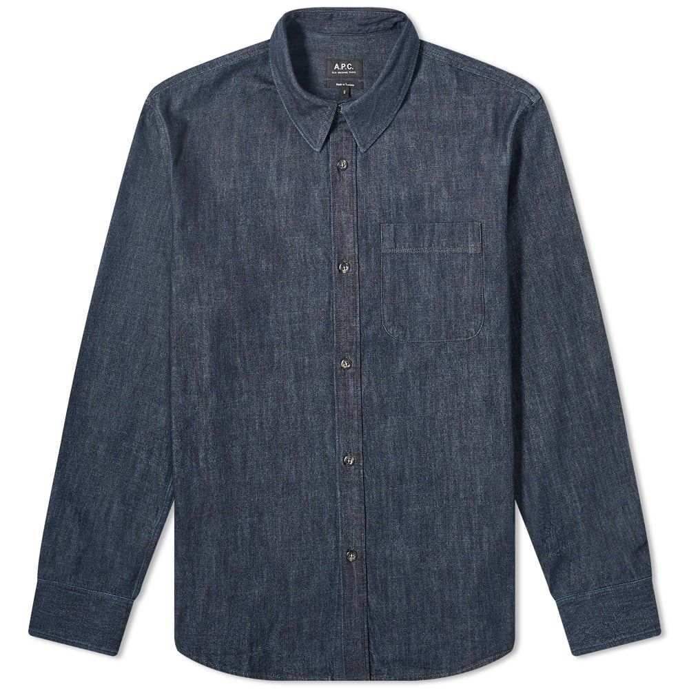 アーペーセー A.P.C. メンズ ジャケット オーバーシャツ アウター【Trek Denim Overshirt】Indigo