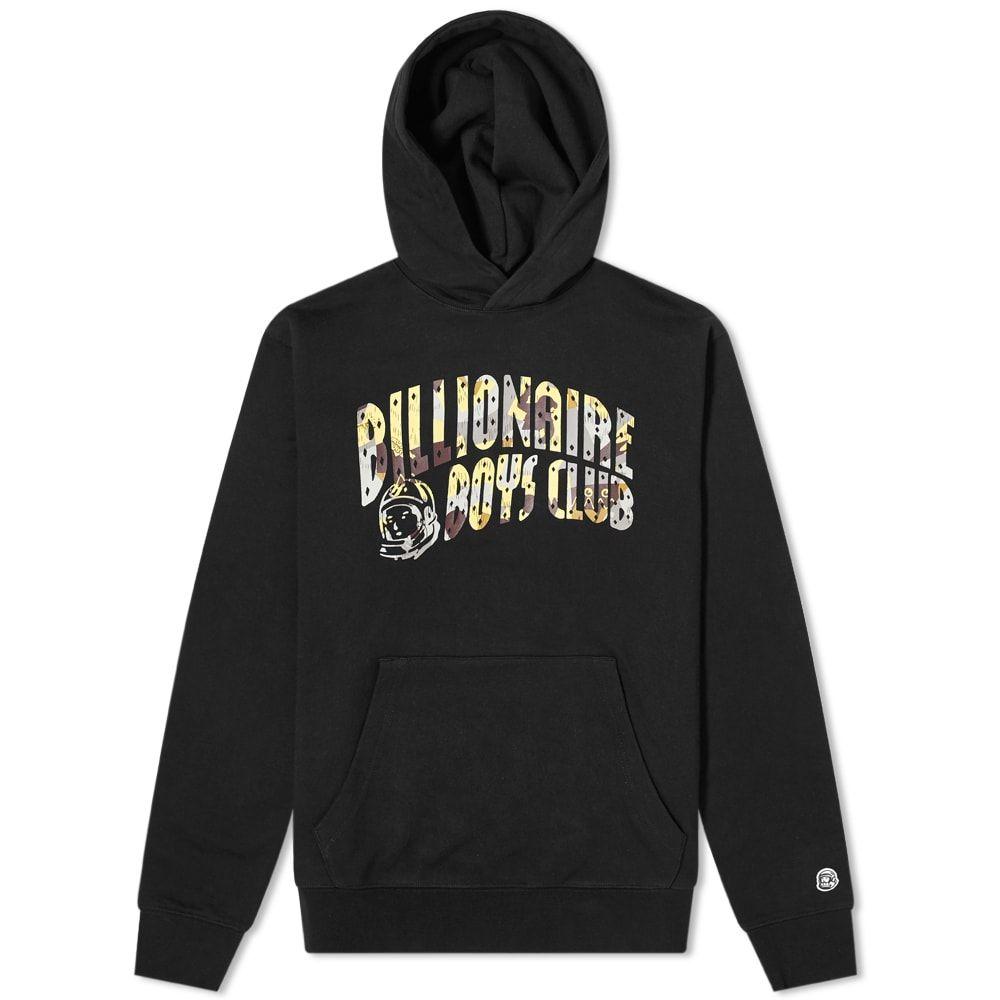 ビリオネアボーイズクラブ Billionaire Boys Club メンズ パーカー トップス【Camo Arch Logo Popover Hoody】Black