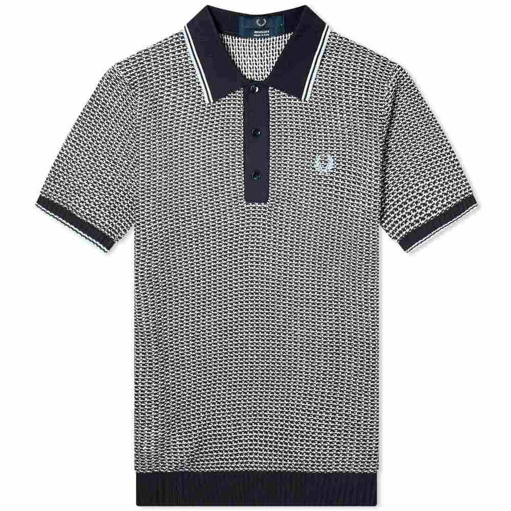 フレッドペリー Fred Perry Laurel Wreath メンズ ポロシャツ トップス【Fred Perry Reissues Jacquard Knitted Polo】Navy