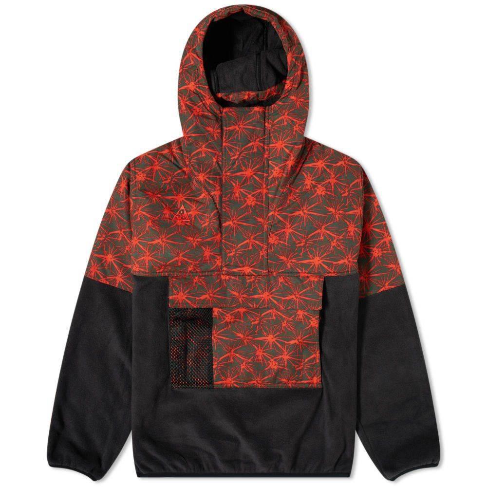 ナイキ Nike メンズ フリース アノラック トップス【ACG AOP Halfzip Fleece Anorak】Black/Rush Red